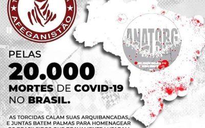 LUTO Pelas 20.000 mortes causadas pelo Covid-19 no Brasil!