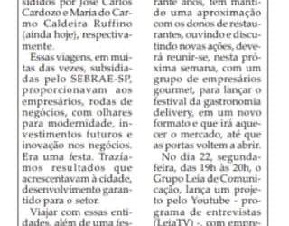Festivais,Feiras,Exposicoes e Inovacoes!Folha da Cidade de Araraquara ,19 de junho de 2020!