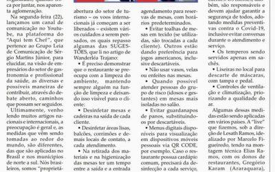 Matéria Unir está mais difícil que juntar,Folha da Cidade de Araraquara,30/06/2020 – Terça-feira.