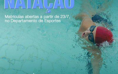 Escolinha de natação no Clube Araraquarense!