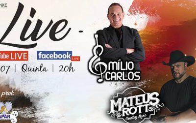 Clube Araraquarense foi palco de live beneficiente com Emílio Carlos!Araraquara News!