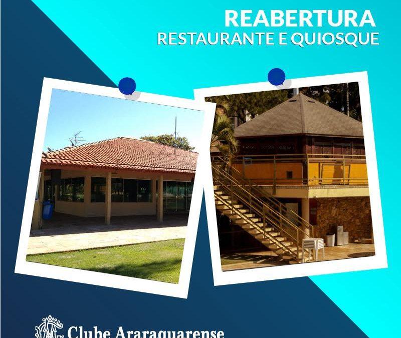 Reabertura do Restaurante e Quiosque do Clube Araraquarense!