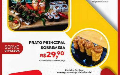 Fest Gourmet Delivery Araraquara SP… Vai até 26/07… Mais dicas deliciosas.