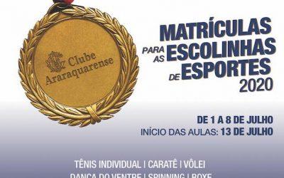 Veja as atividades esportivas que retornam no Clube Araraquarense em Julho de 2020!Araraquara News!