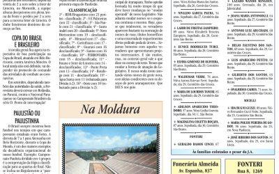ESPORTES – JORNAL DE ARARAQUARA – 01/08/2020!